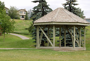 Gazebo in Edgepark Ravine