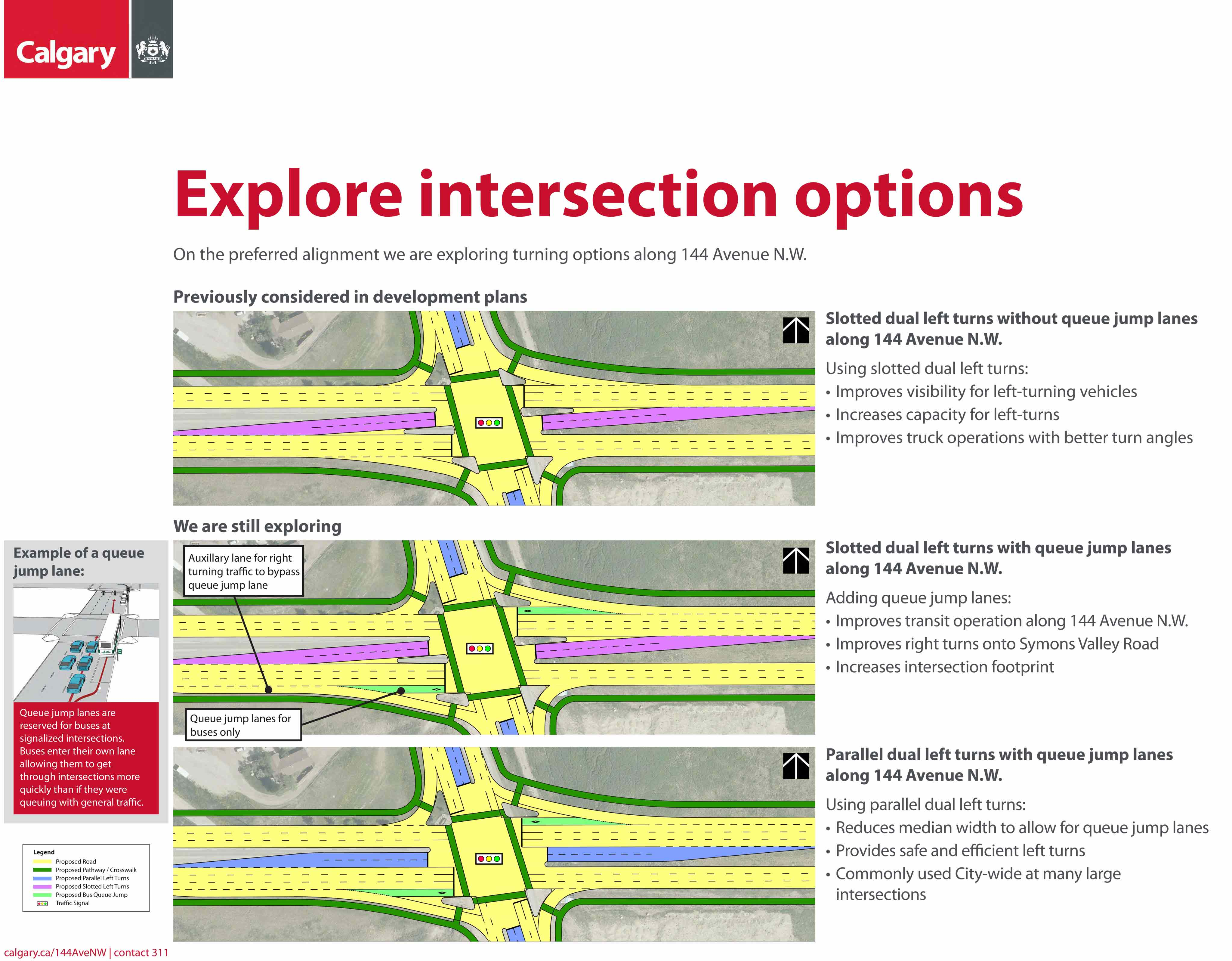 144 Ave Intersection Options
