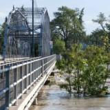 Flood levels at MacDonald Bridge