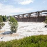 Floodwaters over-topped Glenmore Dam