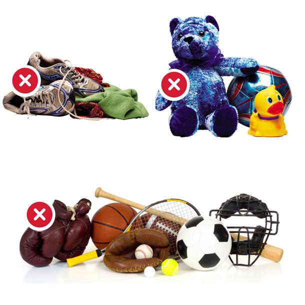 Clothes Sports Toys NO