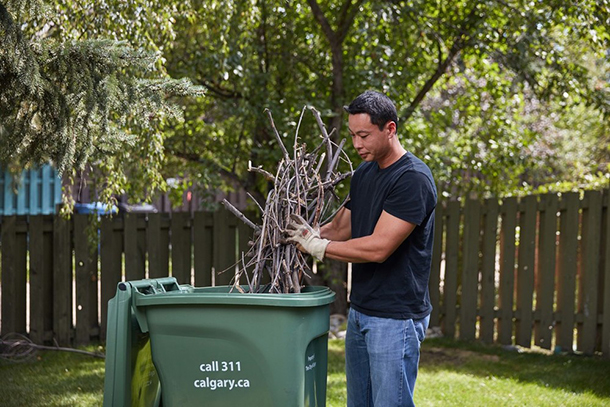 Use paper yard waste bags if your green cart is full
