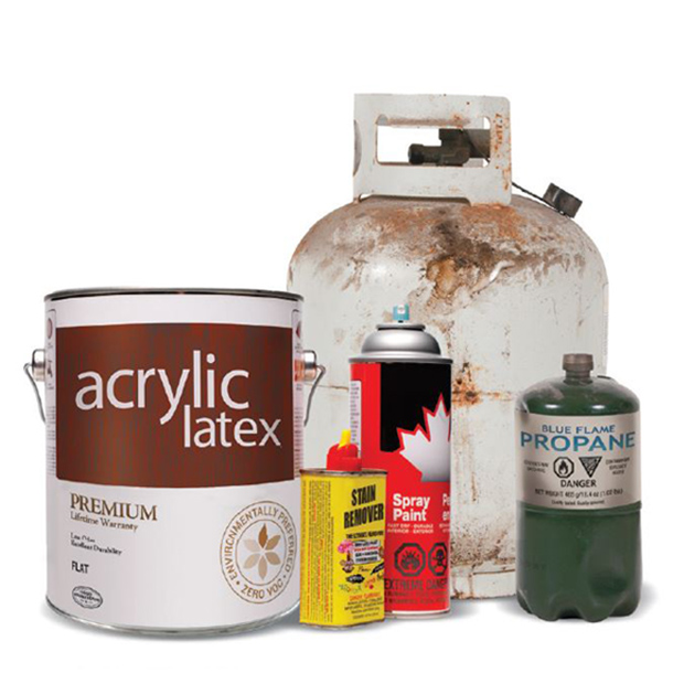 Household Hazardous Waste Items Example Paint, Propane, Cleaners