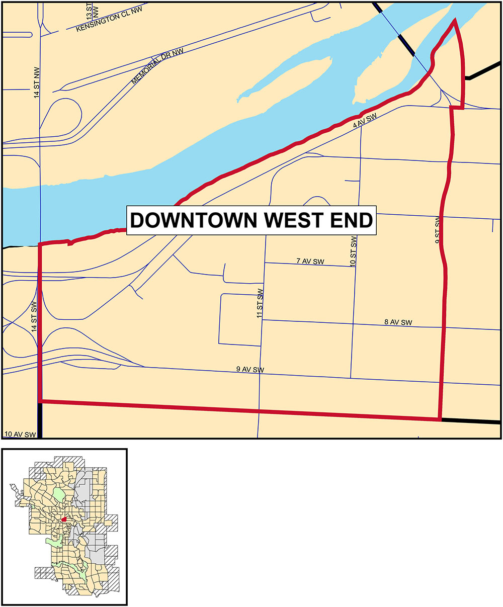 Downtown West End map