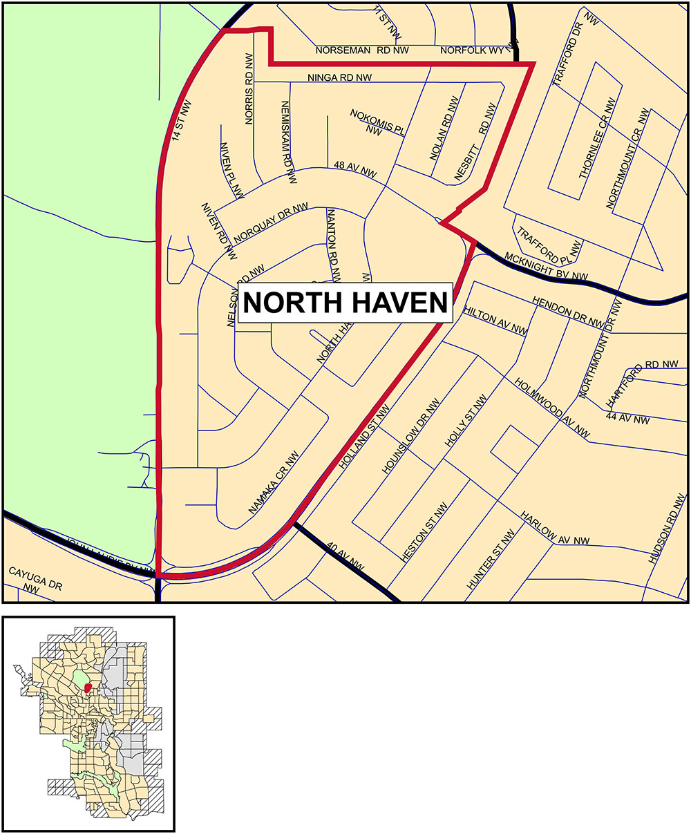 North Haven map