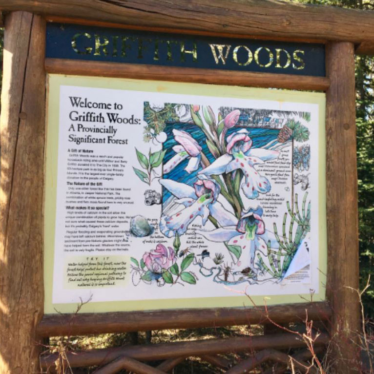 Griffith Woods signboard