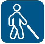 White cane icon